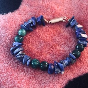 Jewelry - Green and blue Puka shell bracelet